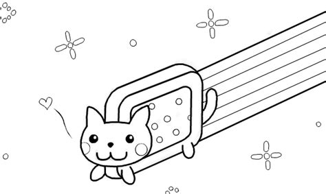 origami nyan cat coloring pages coloring pages