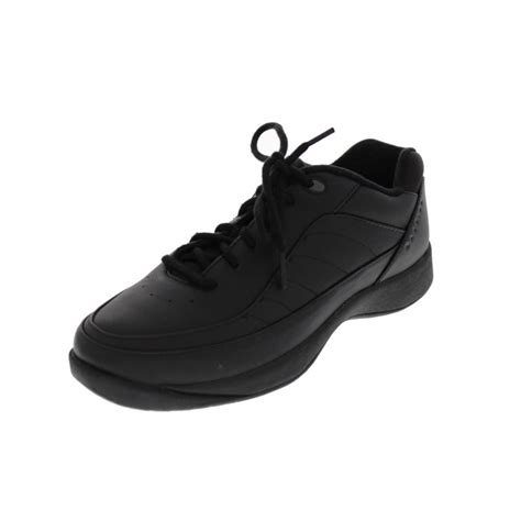 easy spirit new jumper black leather sneakers lace up walking shoes 9 bhfo ebay