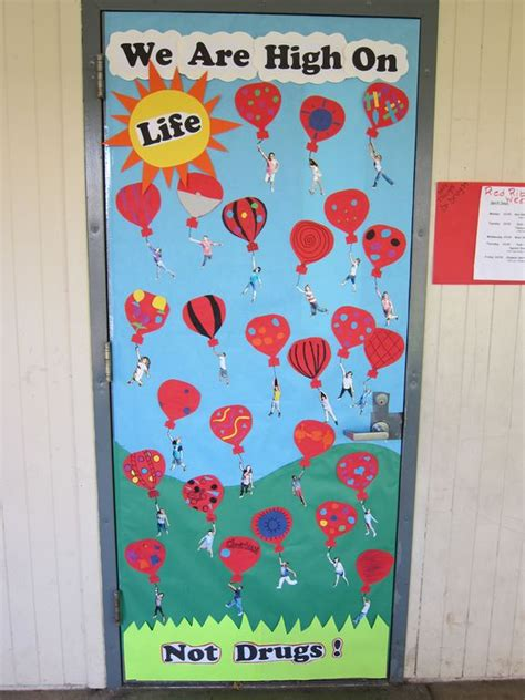 christmas door decoration for six graders ribbon week door 6th grade i was inspired by seeing bookmarks of students hanging from a
