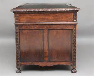 Carved Oak Pedestal Desk Antiques Atlas Carved Desk