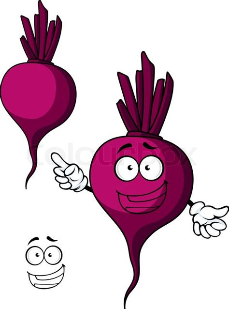 beet clipart cartooned violet beet vegetable with happy and