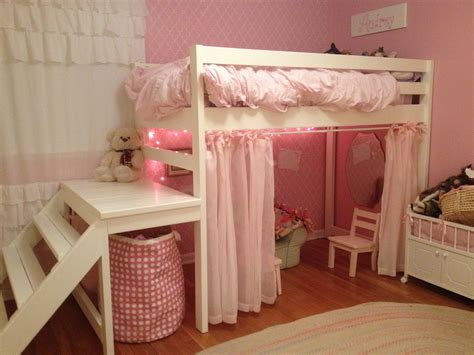 little girl beds ana white little girls jr loft bed diy projects