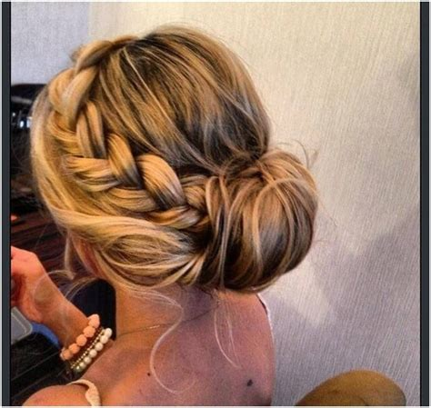 formal hairstyles messy bun with braid 15 braided bun updos ideas popular haircuts