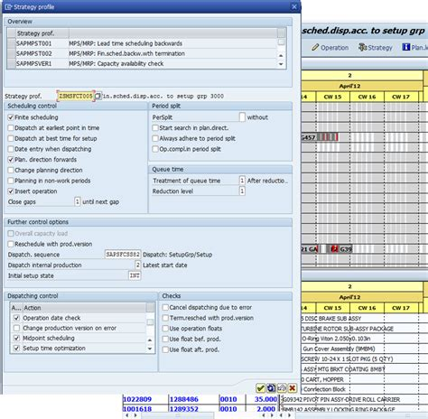 sap production order table table for production order in sap