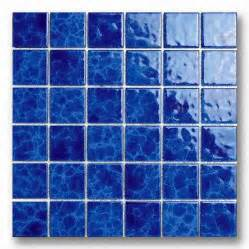 Country Kitchen Floor Tiles - 48mm blue porcelain mosaic tile for swimming pool use global sources