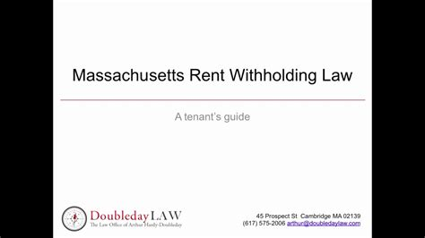 Withhold Rent From Landlord Letter Can I Withhold My Rent In Massachusetts