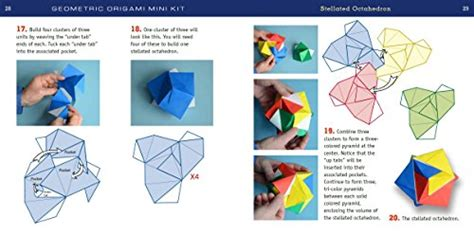 Origami Books For Adults - geometric origami mini kit folded paper for
