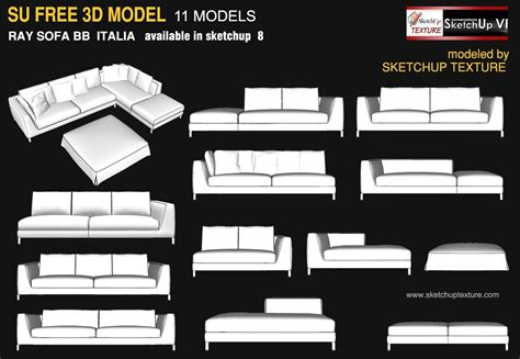 Furniture Up Free by Sketchup Texture Awesome Free Sketchup 3d Model Sofa