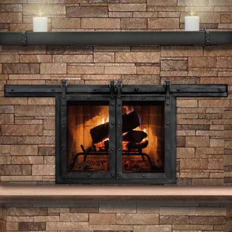 Paterson Sliding Masonry Fireplace Door Interior Barn Masonry Fireplace Glass Doors