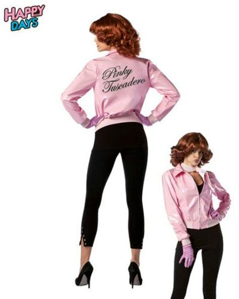 themed clothing days adult tv show happy days pinky tuscadero sexy pink jacket