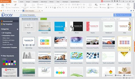 ppt templates for wps wps office templates docer and more