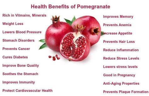 health benefits  pomegranate quora