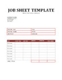 job sheet template free sheet templates
