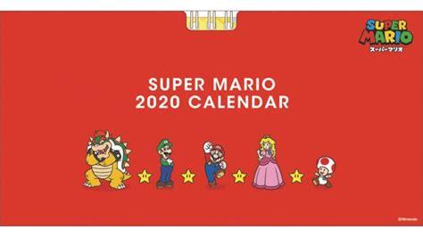 super mario  desktop calendar revealed gonintendo