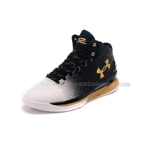 gold armour basketball shoes armour ua curry one 2015 white black gold basketball