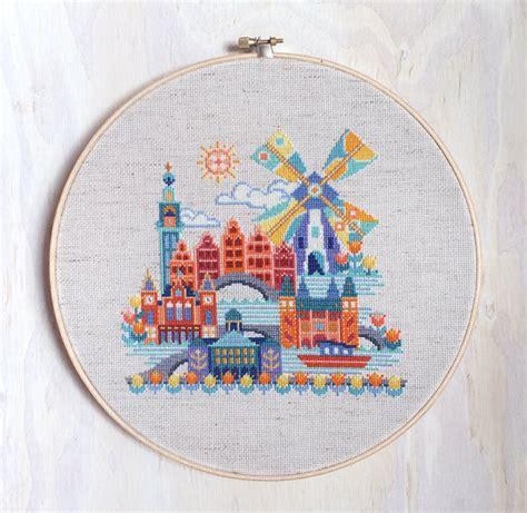 Kreuzstichvorlagen Modern pretty amsterdam satsuma modern cross stitch