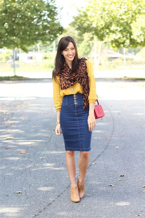 1 fabulous denim pencil skirt 9 fashions fobia