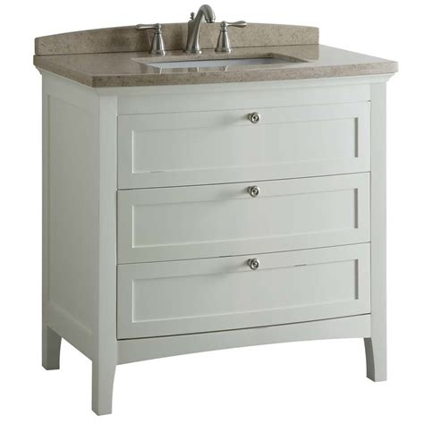 allen roth bathroom cabinets shop allen roth norbury white undermount single sink