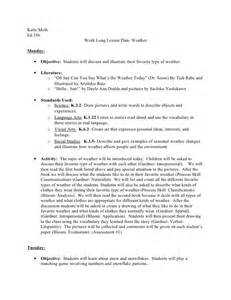 Katie methed 356 week long lesson plan weathermonday objective