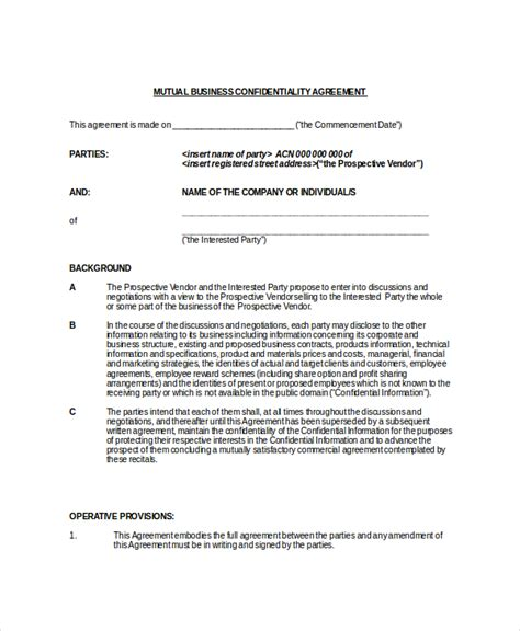 Pin Confidentiality Contracts On Pinterest Brand Rep Contract Template
