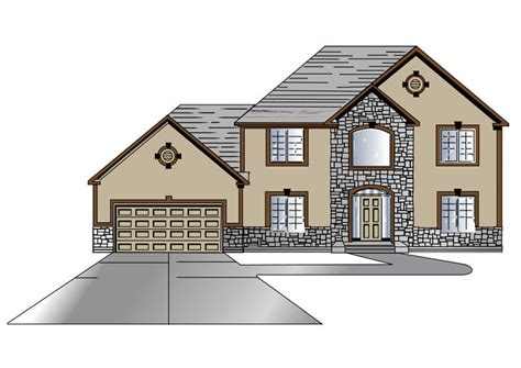 drawing of a house with garage imagen casa con garaje img 27315