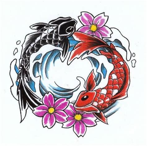 yin yang koi tattoos koi fish yin yang design beautiful tattooshunter