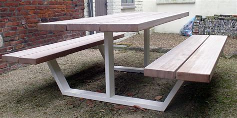 Handmade Picnic Tables For Sale - second cassecroute table 180cm cassecroute