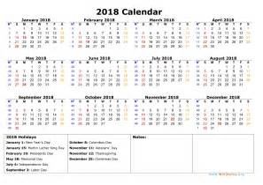 Calendar 2018 Year To View Pin Yearly Calendar 2018 Free Printable On