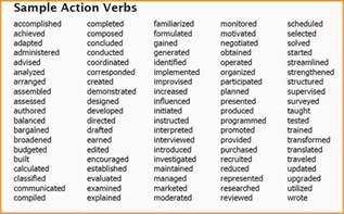 8 list of verbs mac resume template