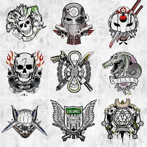 joker line tattoo harley s tattoo parlor suicide squad suicide squad xd