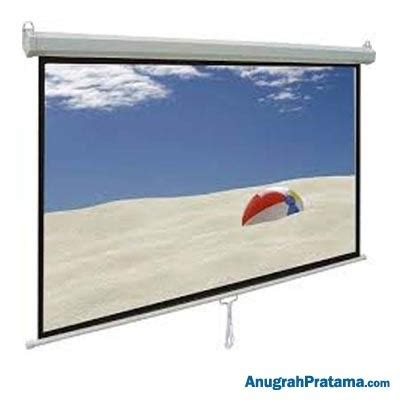brite manual screen mas3030 120 inch 305x305 cm layar