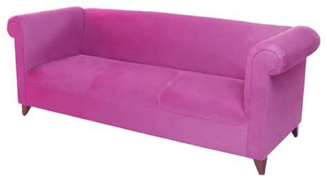 Chesterfield Sofa Hot Pink Plush Velvet Eclectic Pink Chesterfield Sofa