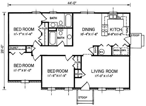 average square footage of a 3 bedroom house 1200 sq ft 4 bedroom house plans google search floor