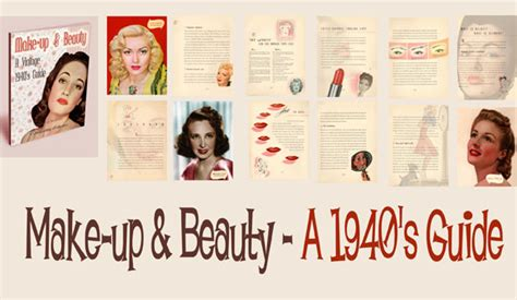 Hairstyles Books Of The 1940s by 1940 S Makeup And Guides Preview Vintage