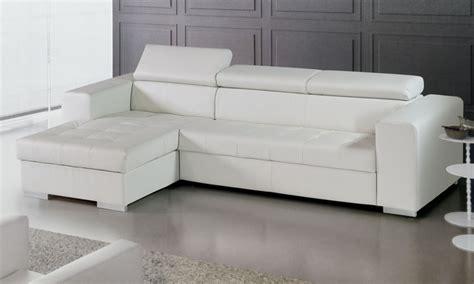 divani ecopelle offerte divano letto con penisola in ecopelle groupon