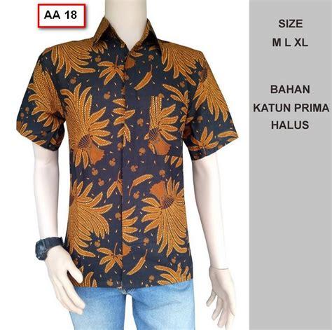 Murah Baju Batik Baju Kemeja Pria Batik Muslim Pria Batik 40 foto model kemeja baju batik pria lengan pendek terbaru