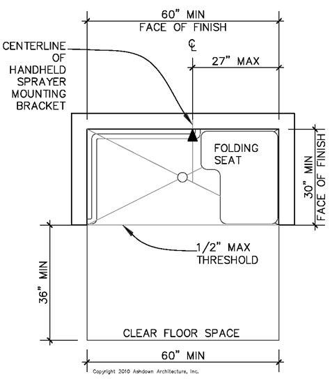 Ada Shower Requirements by California Ada Compliance Ashdown Architecture Inc