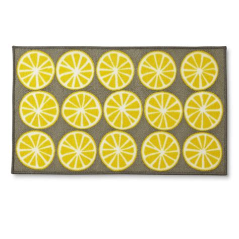 Yellow Kitchen Rugs Yellow Kitchen Rugs Yellow Lemon Design Indoor Room Doormat Mats Rug For The Kitchen Ebay