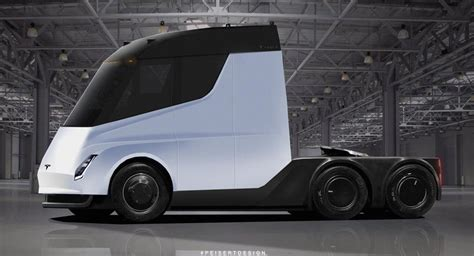 new tesla semi truck rendered into reality autoscoops nl