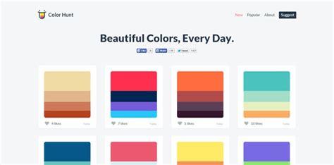 color hunt color hunt 漂亮炫酷的配色方案 资源 伯乐在线