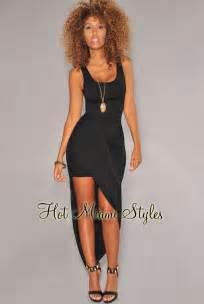 Draped Maxi Dresses Black Asymmetrical Draped Maxi Dress