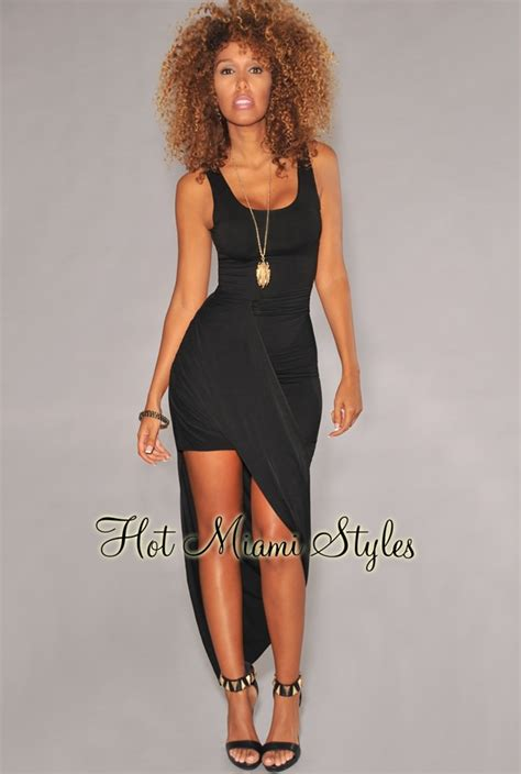 draped dress black asymmetrical draped maxi dress