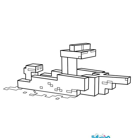 minecraft boat games minecraft boat coloring page more minecraft and video