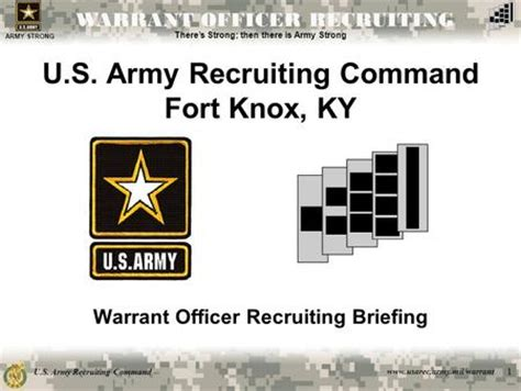 army strong warrant officer program ppt