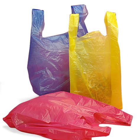 colored plastic bags plastic t shirt merchandise bags