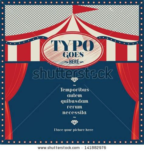 circus tent card template circus theme wedding invitation card greeting card