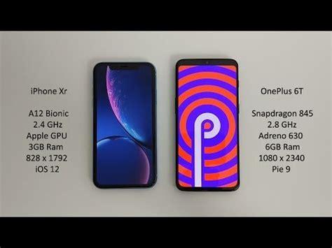 iphone xr vs oneplus 6t antutu benchmark