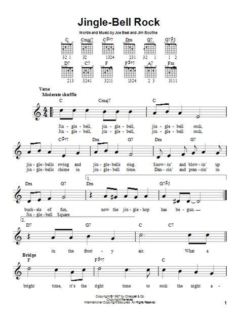 free printable jingle bell rock lyrics jingle bell rock sheet music by bobby helms easy guitar