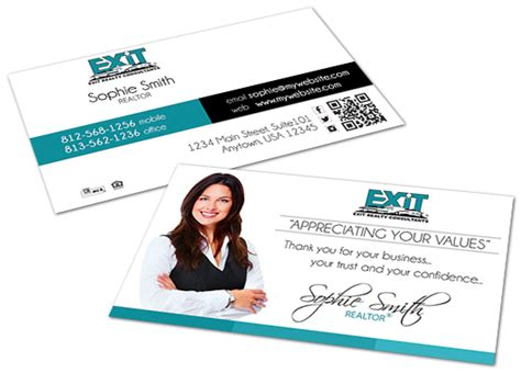 Free Exit Realty Real Estate Business Cards Template by Exit Realty Business Cards Exit Realty Business Card