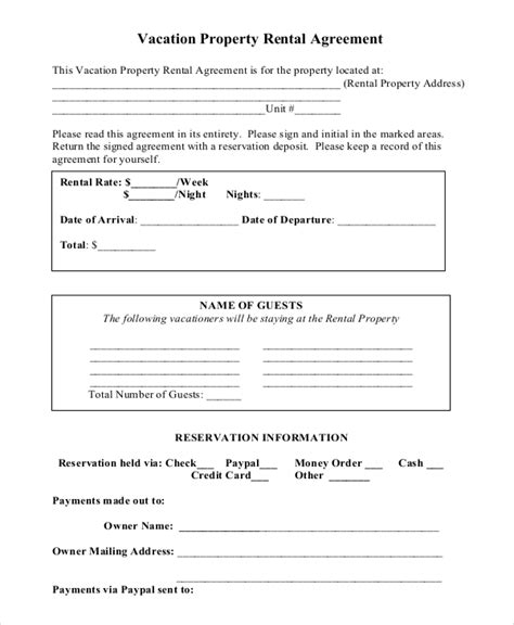 terms of agreement template 14 term rental agreement templates free sle